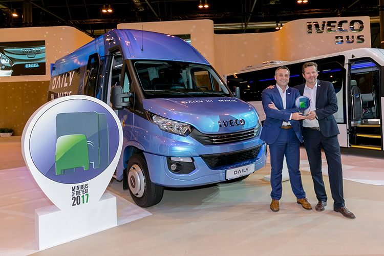 El Daily Tourys, galardonado con el premio Minibus of the Year 2017