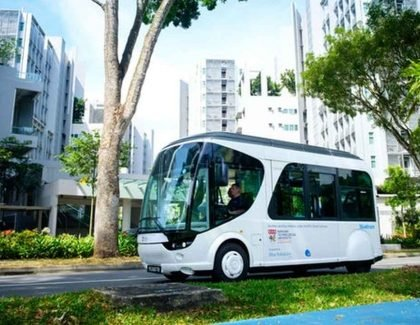 La universidad de Singapur obtiene un bus autónomo (Shuttle Flash-Charging)